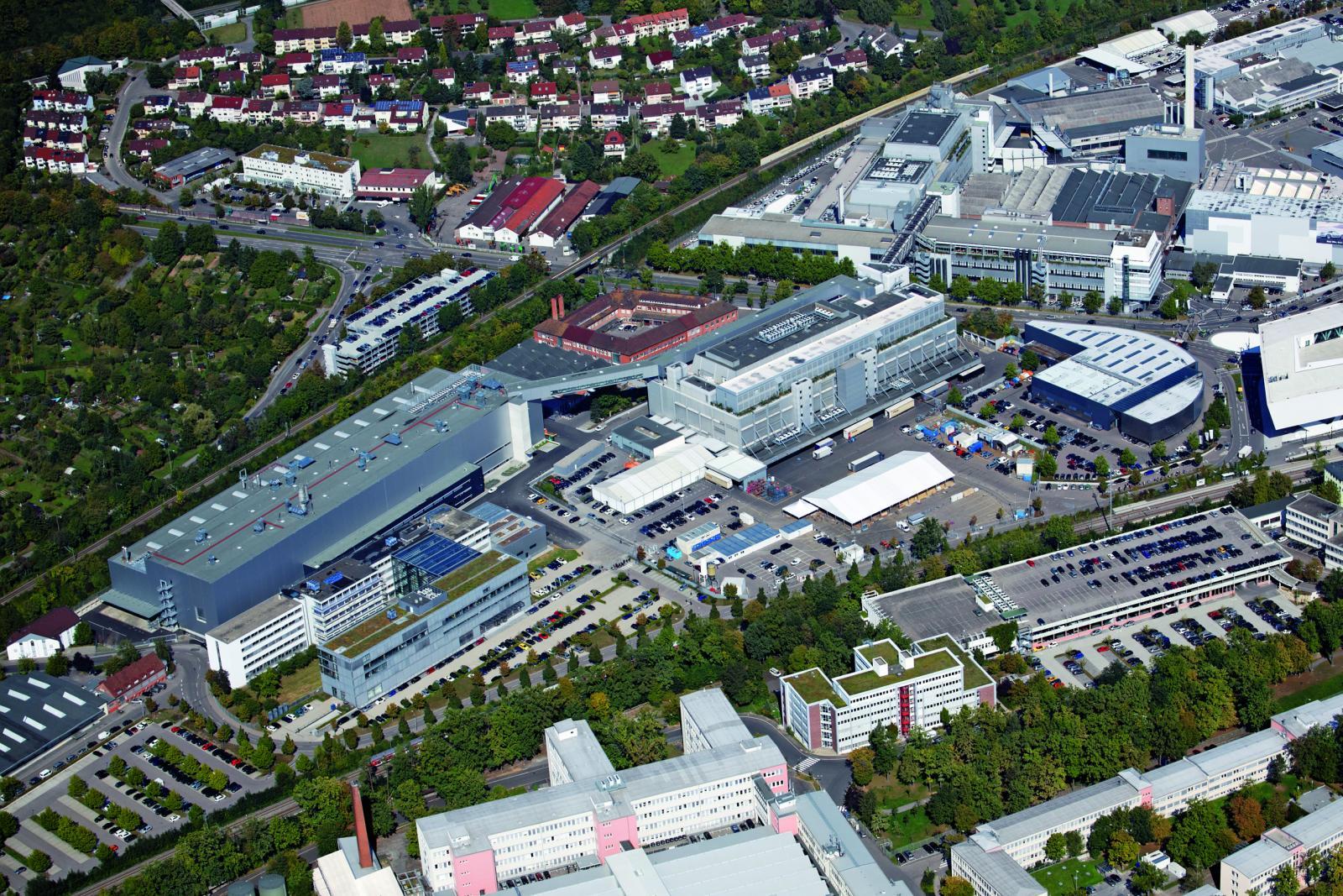 Porsche Werk Stuttgart Luftbild